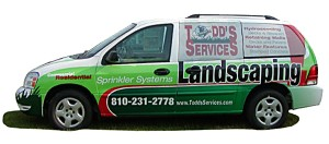 Landscaping Car Wrap