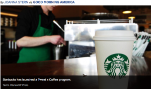 Starbucks Tweet Coffee