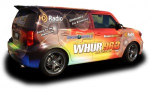 Radio Station Car Wrap