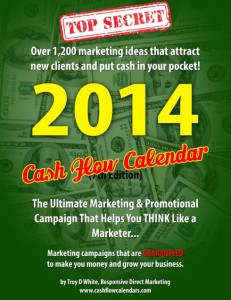 2014 Cash Flow Marketing Calendar
